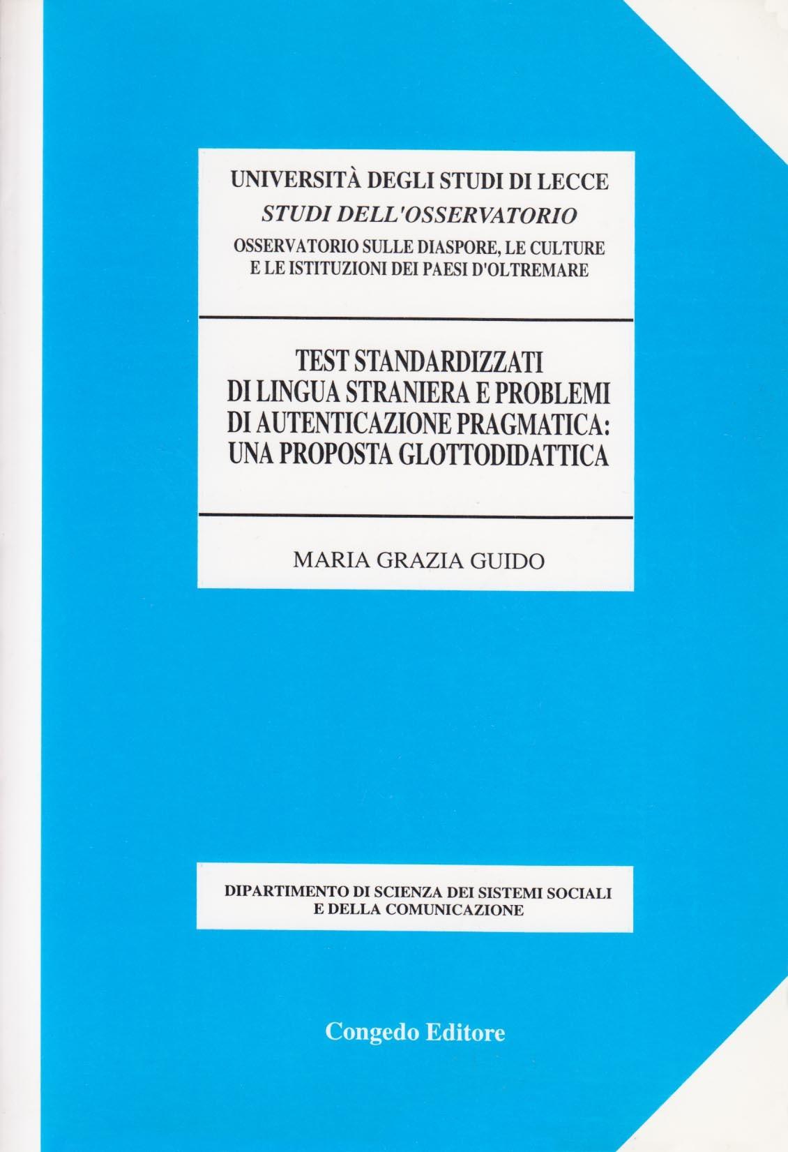 Test standardizzati di lingua straniera e problemi di autenticazione pragmatica