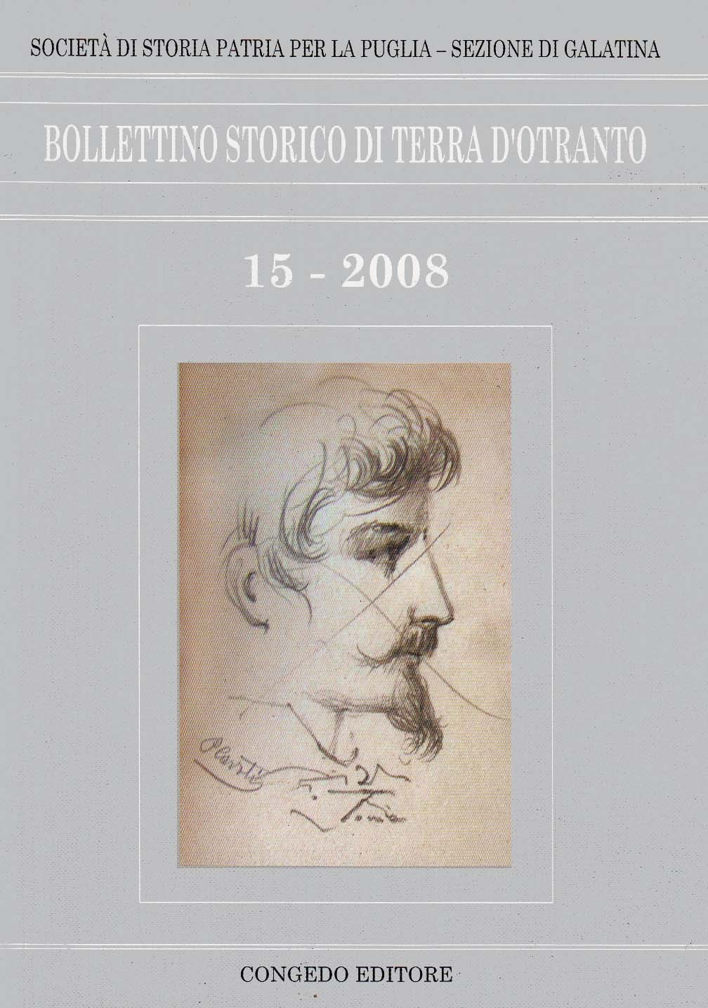 BOLLETTINO STORICO TERRA D'OTRANTO 15 - 2008