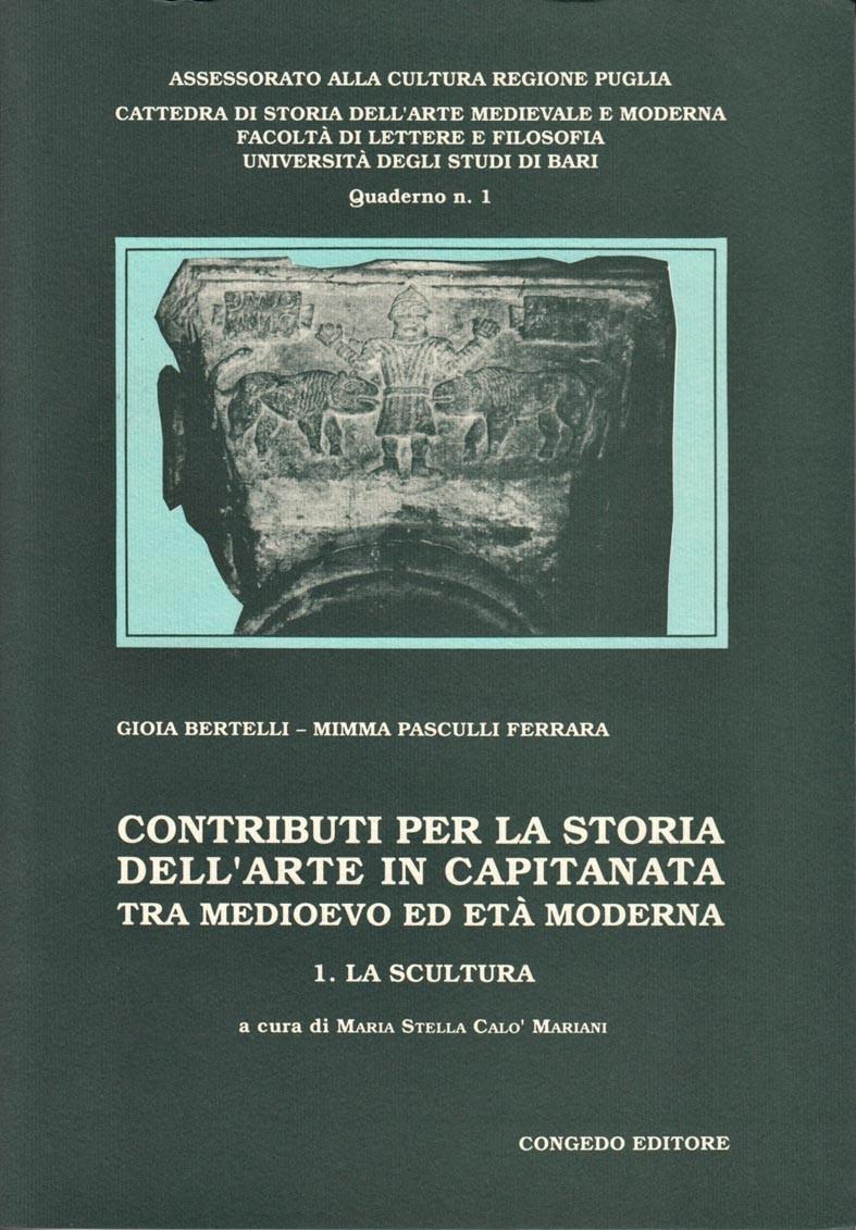Contributi per la storia dell'arte in Capitanata tra medioevo ed età moderna