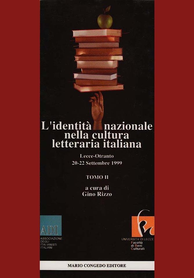 L'identità nazionale nella cultura letteraria italiana. Tomo II