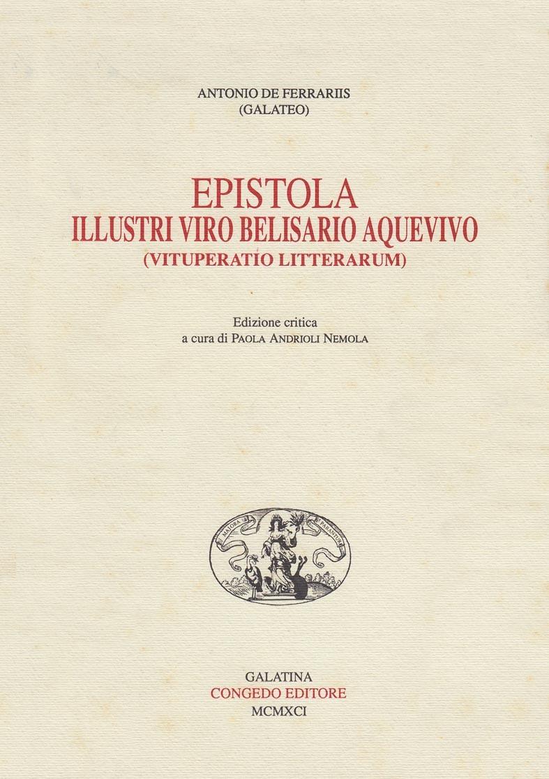 Epistola Illustri Viro Belisario Aquevivo (Vituperatio Litterarum)