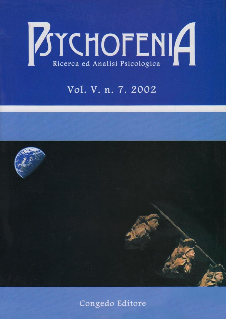 Psychofenia. Ricerca ed Analisi Psicologica. V.7.2002