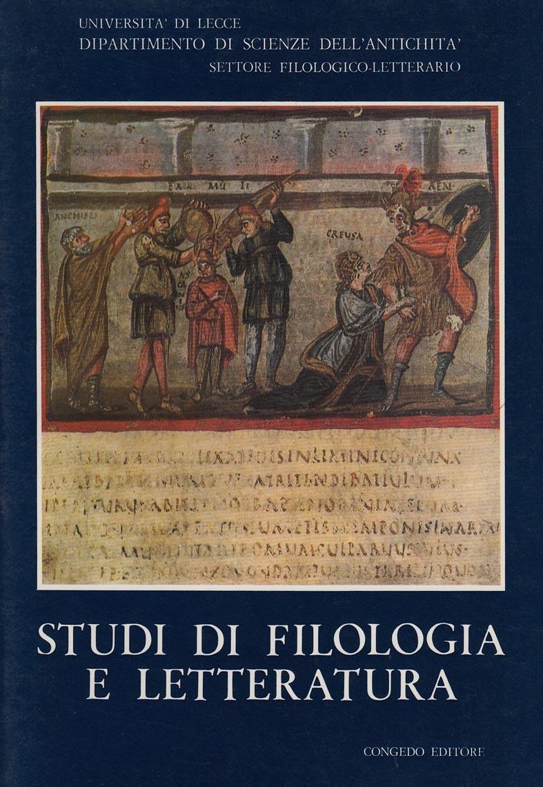Studi di Filologia e Letteratura. 1