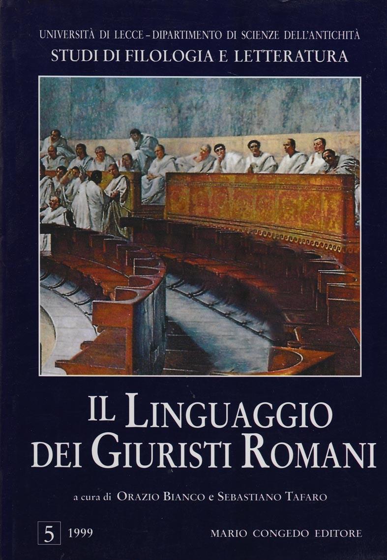 Il linguaggio dei giuristi romani