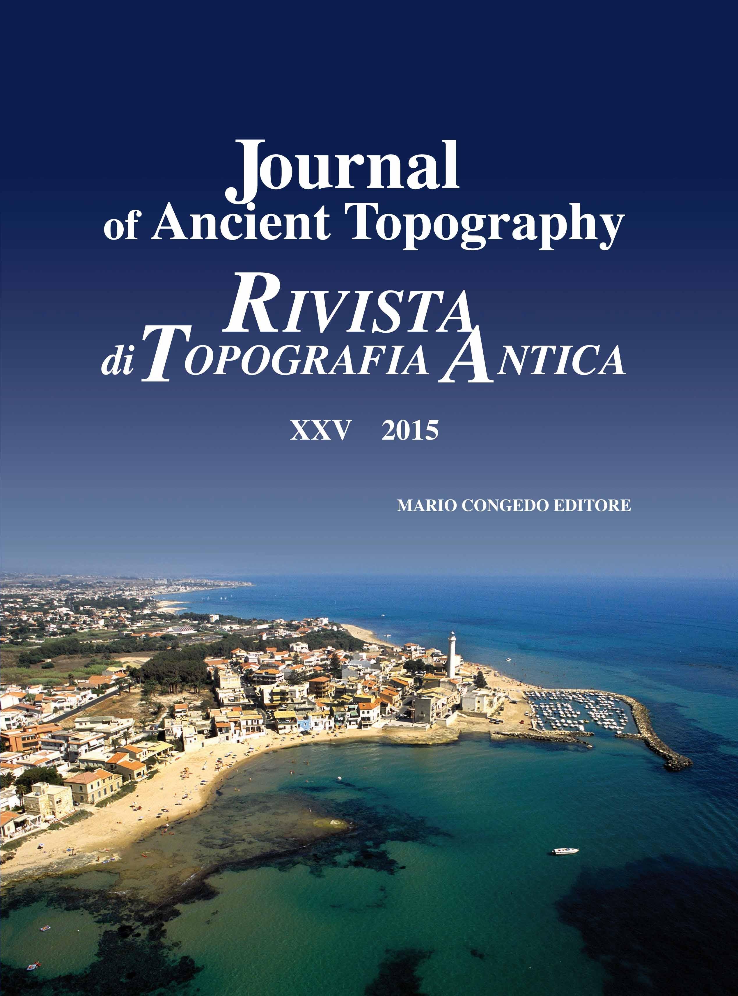 Rivista di Topografia Antica XXV 2015