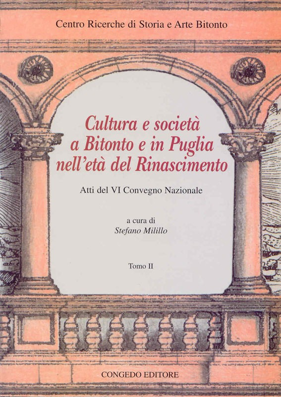 Cultura e società a Bitonto e in Puglia nell'età del Rinascimento