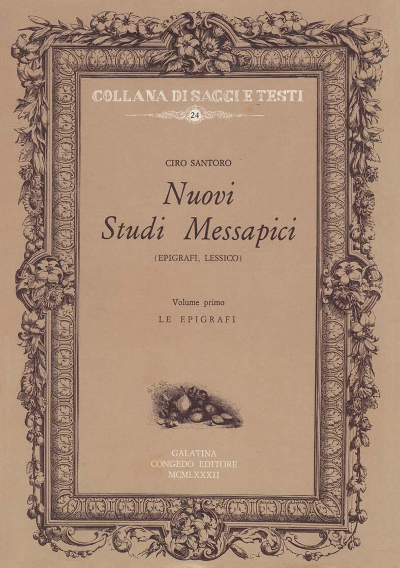 Nuovi studi messapici (3 voll.)