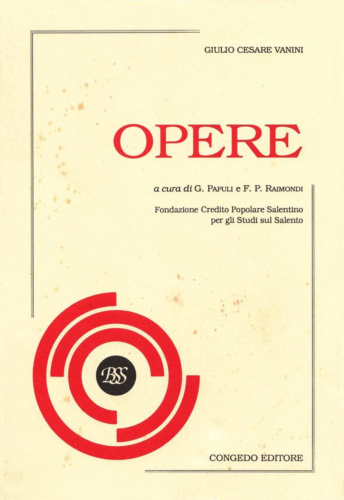 Opere (Giulio Cesare Vanini)