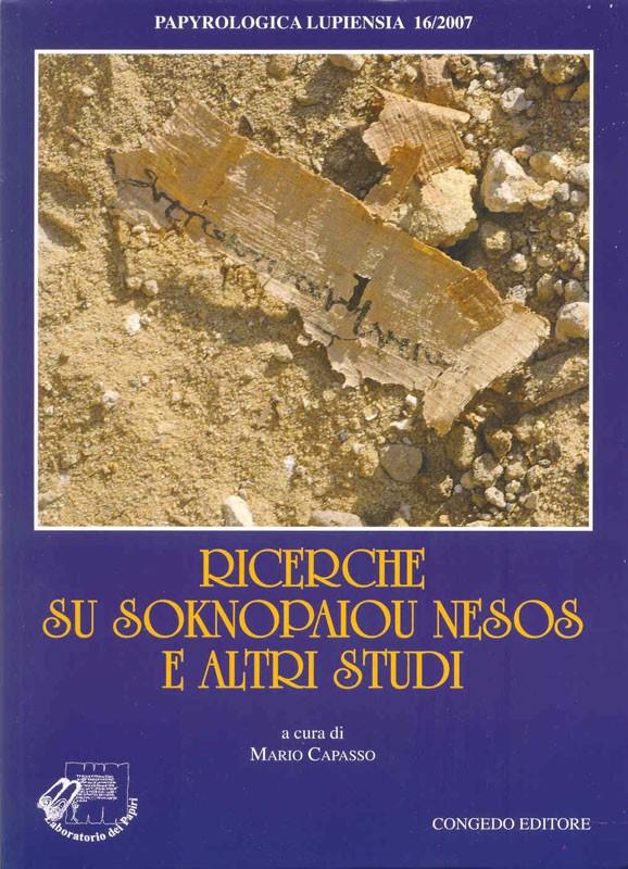 Ricerche su Soknopaiou Nesos e altri studi
