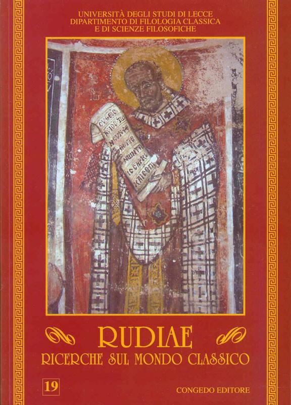 Rudiae. Ricerche sul mondo classico 19