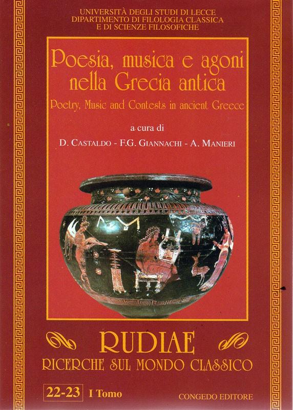 Rudiae. Ricerche sul mondo classico 22-23. Primo Tomo