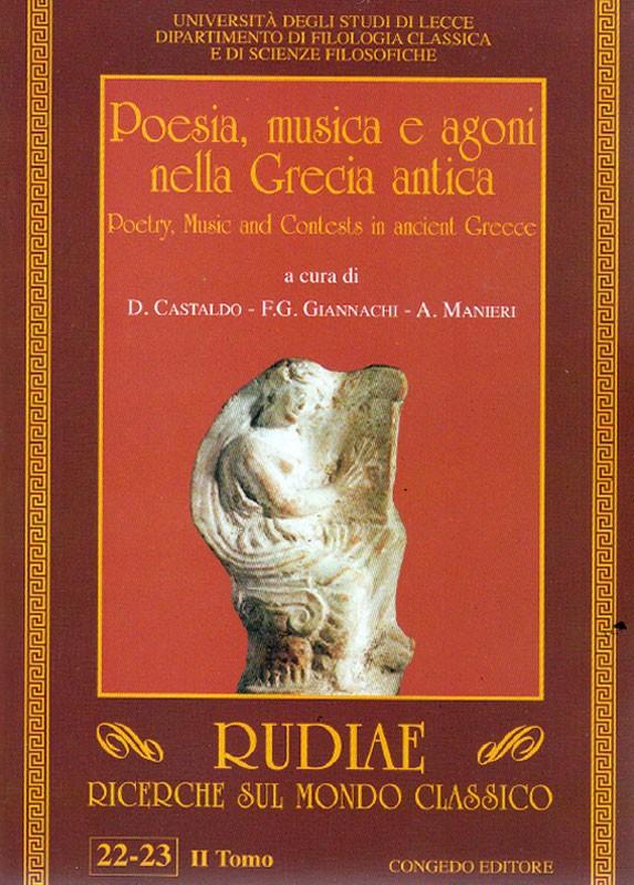 Rudiae. Ricerche sul mondo classico 22-23. Secondo Tomo