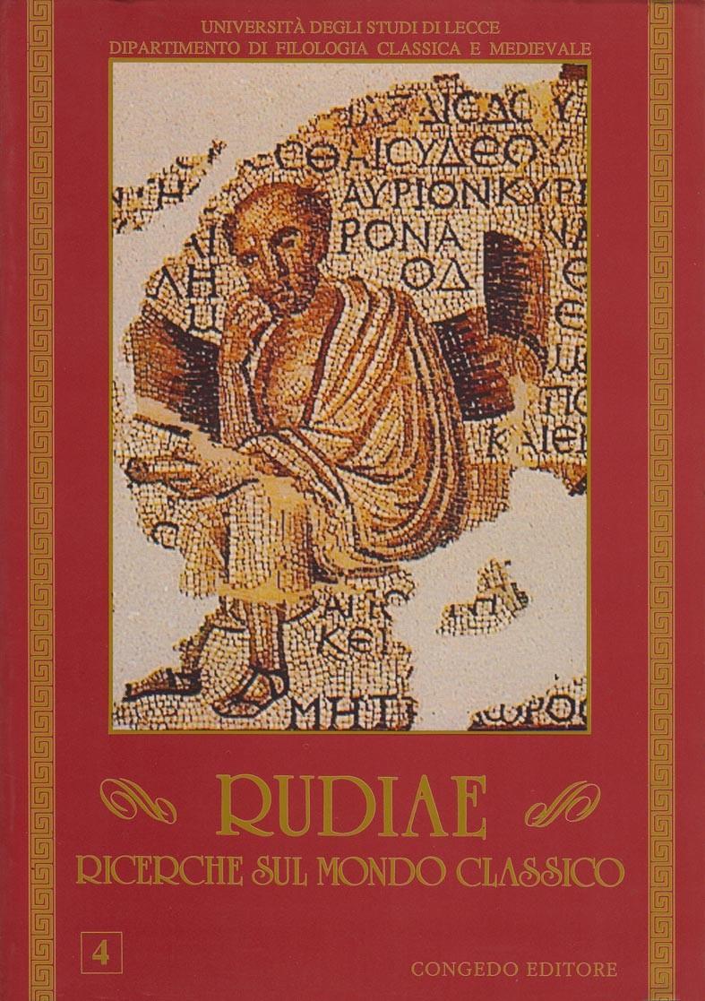 Rudiae. Ricerche sul mondo classico 4