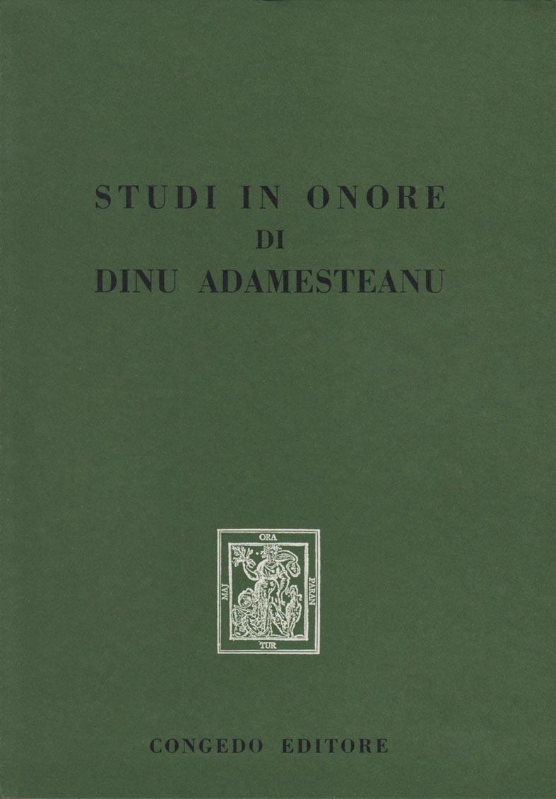 Studi in onore di Dinu Adamesteanu